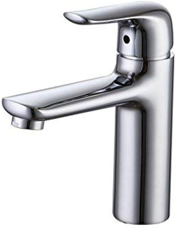 Oudan Bathroom Faucets Single Hole Basin Faucet Bathroom Basin Wash Basin Hot and Cold Taps Copper (color   -, Size   -)