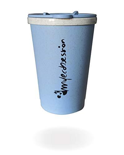 MYECOBSESSION Tazza Termica da Viaggio - Espresso Mug da 300ml con Doppia Parete Isolante in Fibra di Grano - BPA Free