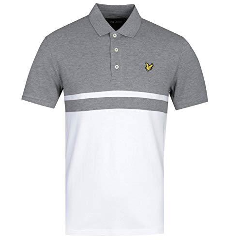 Lyle & Scott Graues & Weißes Poloshirt mit Farbverlauf