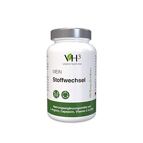 VH3 Mein Stoffwechsel Kapseln I Pflanzliches Kombi-Präparat als natürliche Alternative zur Unterstützung des Stoffwechsels I 60 Kapseln Vitamin Supplement Nahrungsergänzung Stoffwechsel vegan