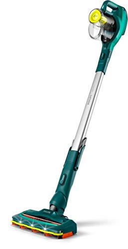 Philips Aspirador Vertical sin Cable FC6725/01, 0.4 litros, 80 Decibeles, Verde, Plata