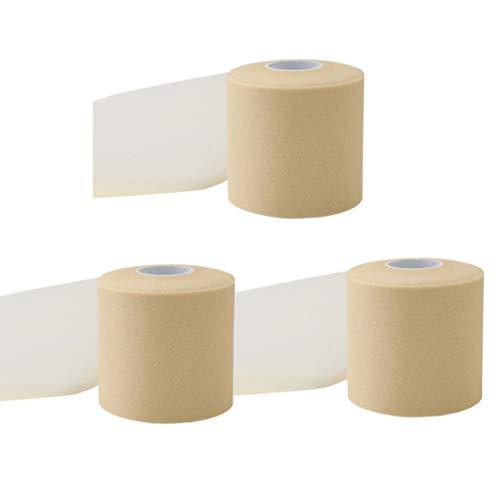 LIOOBO 3 rollen selbstklebende verbandrollen elastisches selbstklebendes band verbandwickel für schwellungen an handgelenk und knöchel (hautfarbe)