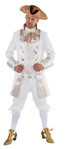 M213208-S weiß-beige Herren Barockkostüm Rokoko Anzug Gr.S