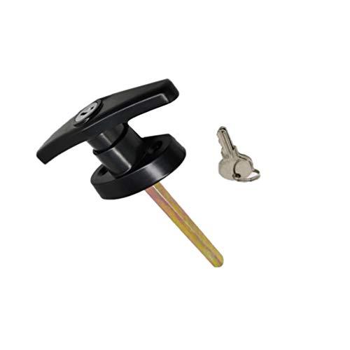 DOITOOL 1PCS Shed Door T-Handle Lock Kit Black Shed Door Locking Handle Shed Door Hardware Kit for for Shed,Gate,Barn Door