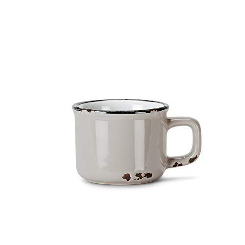 Abbott Collection Enamel Look Stoneware Espresso Cup, Grey