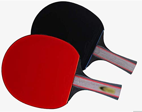 Find Bargain Professional Ping Pong Paddle Racket Table Tennis Racket Tennis Shake Hands Grips New Upgrade Table Tennis Racket Portable with Good Toughness and Strong Ball Control