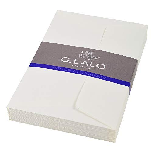 G.Lalo ウ゛ルジェ・ド・フランス 封筒 ポストカードサイズ ホワイト gl52100
