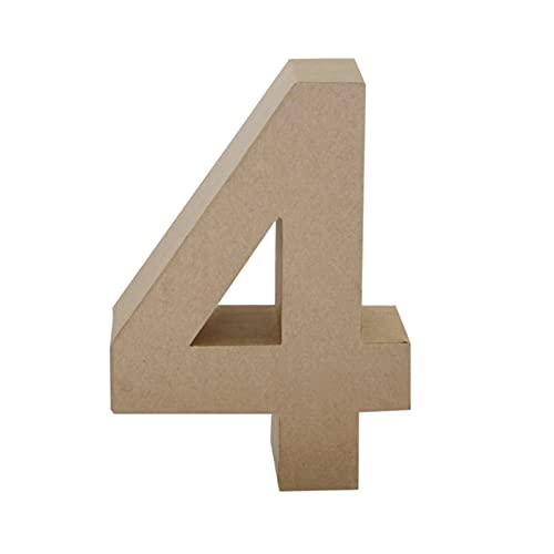 Papier Mache Number 4, Brown