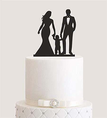Cake Topper, Tortenstecker, Tortenfigur Acryl, Tortenständer Etagere Hochzeit Hochzeitstorte (schwarz) Art.Nr. 5137