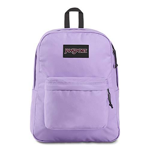 JanSport Black Label Superbreak Backpack - Lightweight School Bag, Purple Dawn