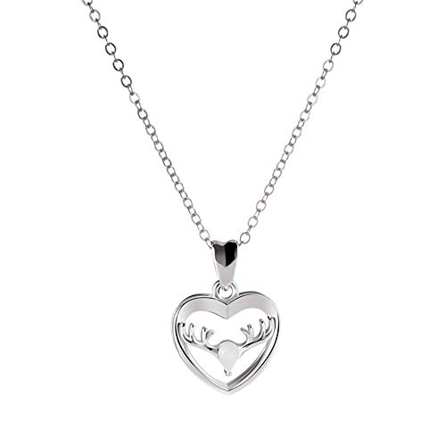 ANGEMIEL 925 Sterling Silver Have You All The Way Heart Pendant Necklace Womens