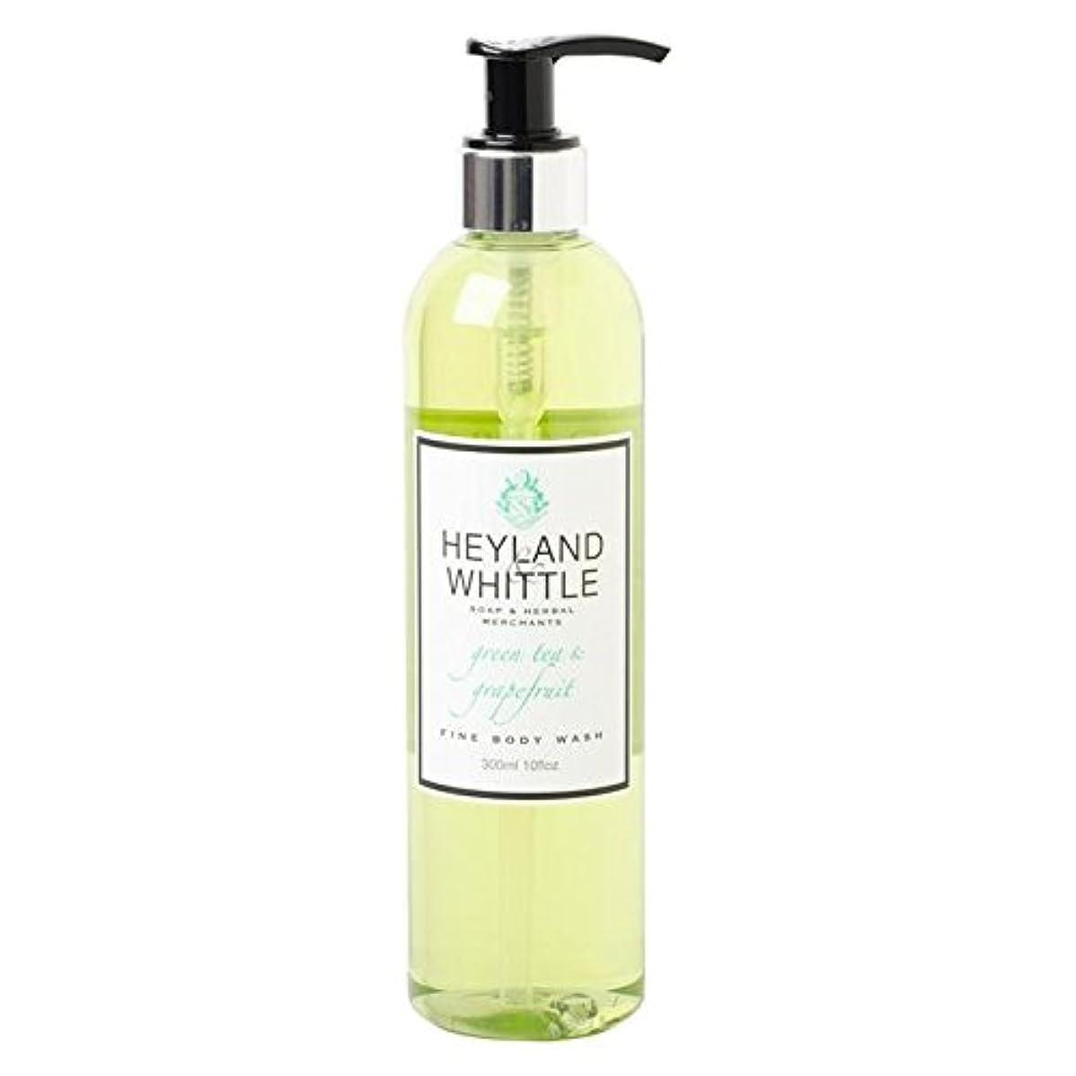 父方の塊み&削るグリーンティ&グレープフルーツボディウォッシュ300ミリリットル x4 - Heyland & Whittle Greentea & Grapefruit Body Wash 300ml (Pack of 4) [並行輸入品]