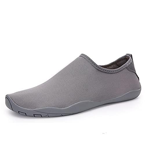 Wapipey Zapatos de playa de secado rápido Hombres y mujeres Buceo Zapatos de snorkeling Zapatos de río Wading Zapatos suaves antideslizantes Anti-Cutting Patch Zapatillas de parches de color sólido Za