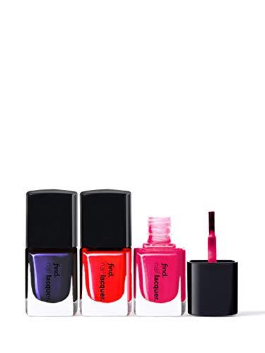 Marca Amazon - find. Bright Pop - Esmalte de uñas, n.3 unidades (n.8, n.9, n.10)