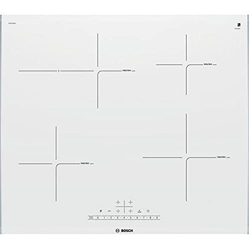 Bosch Piano Cottura ad Induzione 60 cm Vetroceramica PIF672FB1E - Acciaio Inox, Bianco