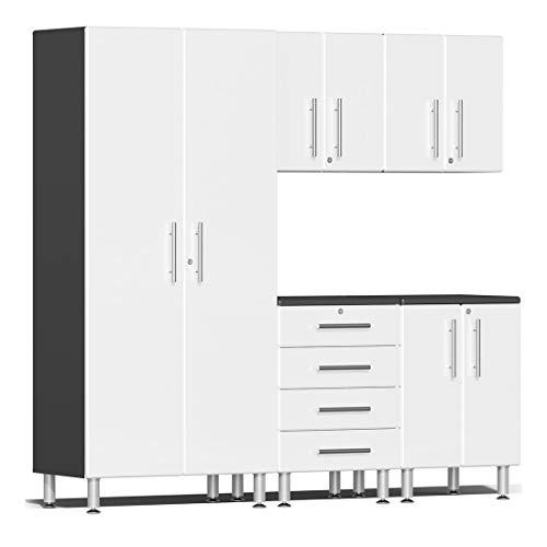 Ulti-MATE UG22050W 5-Piece Garage Cabinet Kit in Starfire White Metallic