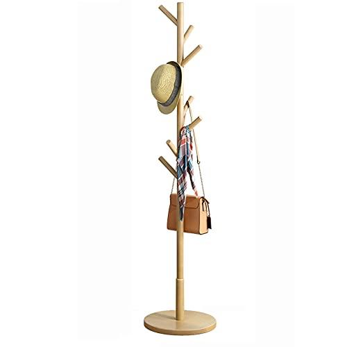 OMYLFQ Capa de árbol de árbol Abrigo de árbol Rack con tamaños Ajustables Ejecute Conjunto Libre Perspieta de Madera Soporte de suspensión para Ropa Sombreros Sombreros para Pasillo Entrada