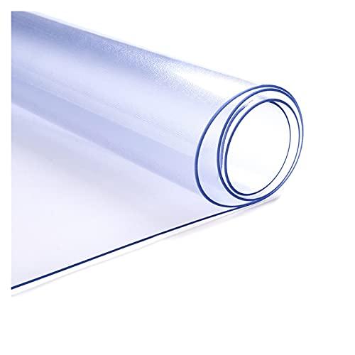 ALGWXQ Alfombrilla de Plástico Translúcida Alfombrilla Antideslizante para Silla Protección Suelo PVC Cubierta Mesa de Plástico para Piso Madera Oficina (Color : 2.0mm, Size : 120x150cm)