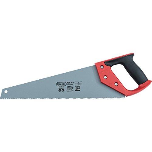 Connex COX808540 Scie égoïne avec revêtement lisse/manche 2 composants, Argent/noir/rouge, 400mm