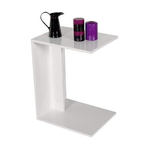Venprodin Mesa Auxiliar para el Sofá, Mesa para el Café de Salón Medida: 62 x 35 x 45 cm (Blanco)