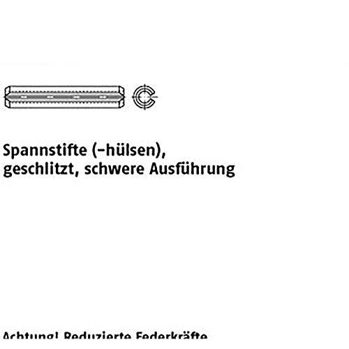 Spannstifte ISO 8752 1.4310 8 x 70 rostfrei VE=S 25 Stück