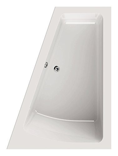 'aquaSu® I Acryl - Badewanne droPino I 170 x 125 cm I Weiß I Links I Wanne I Badewanne I Bad I Badezimmer