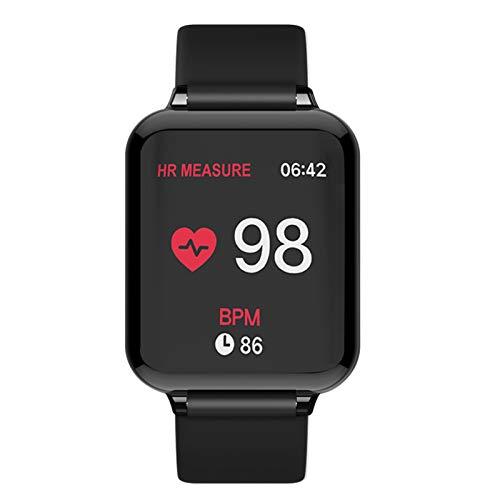 ZEIYUQI Reloj Inteligente De 1.3 Pulgadas,Pulsera Resistente Al Agua,Presión Arterial/Oxígeno,Pulsera De Ejercicio,Recuento De Pasos/Distancia/Calorías/Recordatorio De Llamadas,Bluetooth 4.0,Black