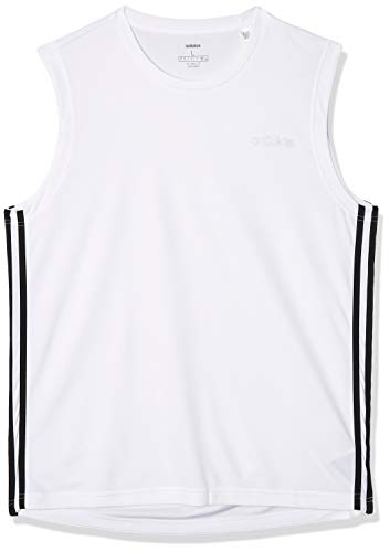adidas Herren Design 2 Move 3-Streifen Sleeveless T-Shirt, White, M