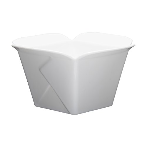 Fortessa Fortaluxe Food Truck Chic Large Take Out Box, 6 x3.5-Inch, Set of 4