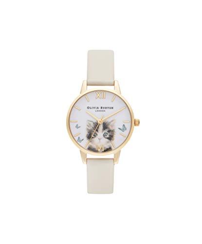 Olivia Burton Damen Analog Quarz Uhr mit PU Armband OB16WL75