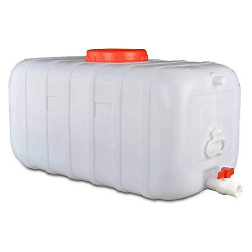 Depósito de Agua para Exterior con Grifo, 100L Plástico Grueso Contenedor de Almacenamiento de Agua Cubo de Almacenamiento Portátil para el Hogar Barril de Productos Químicos Industrial Res(Size:100L)