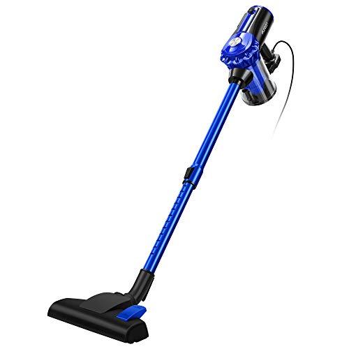 elezon 掃除機 サイクロン 17000Pa 600W 最強吸引力 コード式 スティッククリーナー 紙パック不要 軽量 E600 (ブルー)