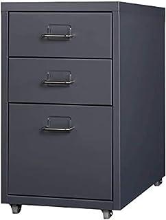 WHLONG Steel Plate Fichier Fichier Armoire de Rangement de Bureau Fichier tiroir données verrouillables Cabinet Office mén...