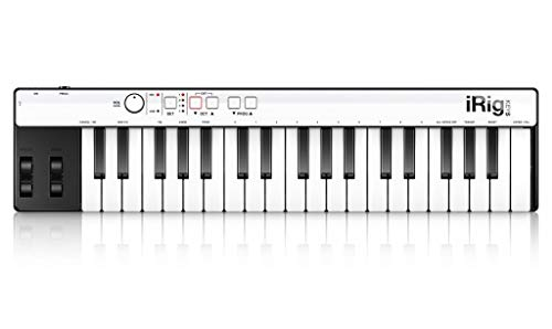 IK Multimedia iRig Keys Mini-sized 37-key MIDI Controller for iPhone, iPad, Android and Mac/PC