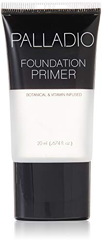 Palladio Foundation Primer, 0.674 oz,, Lightweight and Velvety Primer with Aloe Vera and Chamomile, Wear Alone or As Foundation Base, Minimizes Fine Lines and Pores, Helps Makeup Last Longer