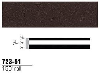 "3M Scotchcal 72351 Vinyl Film Coated Double Striping Tape, 150' Length x 5/16"" Width, Dark Tundra"