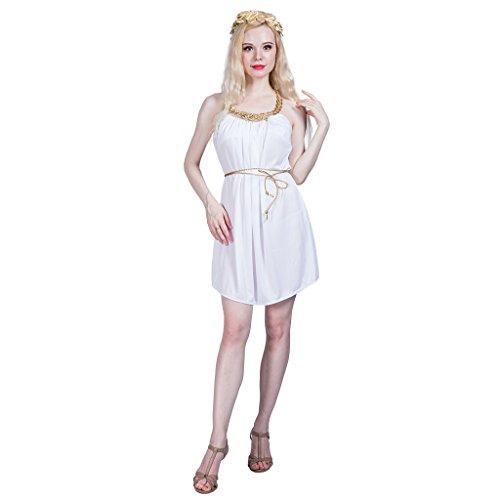 EraSpooky Damen Griechische Göttin Kostüm Faschingskostüme Cosplay Halloween Party Karneval Fastnacht Kleid für Erwachsene