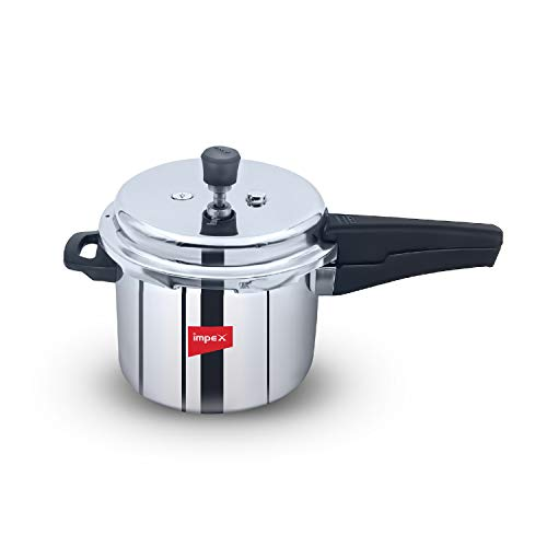 Impex EP Induction Base Stainless Steel Pressure Cooker (3 L, Silver)