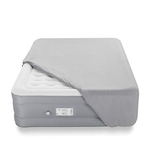 """Brookstone Innovations Perfect Air Bed with Built-in Switch Automatically Inflates & Deflates - Includes Fitted Sheet and Carrying Case - Full Size Mattress - 12"""" Height"""