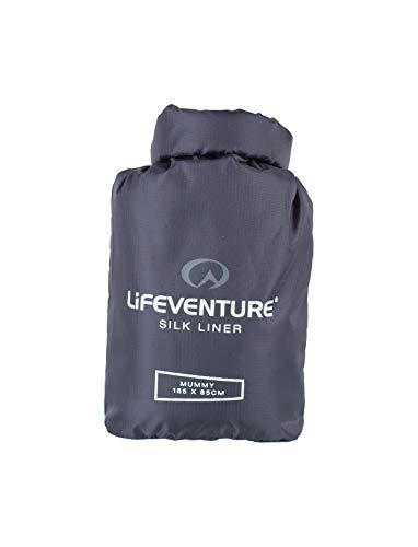 Lifemarque Unisex– Erwachsene Silk Liner Schlafsack, Grey, One Size