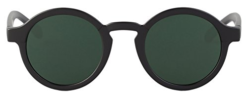 MR.BOHO, Matte black dalston with classical lenses - Gafas De Sol unisex color negro, talla única