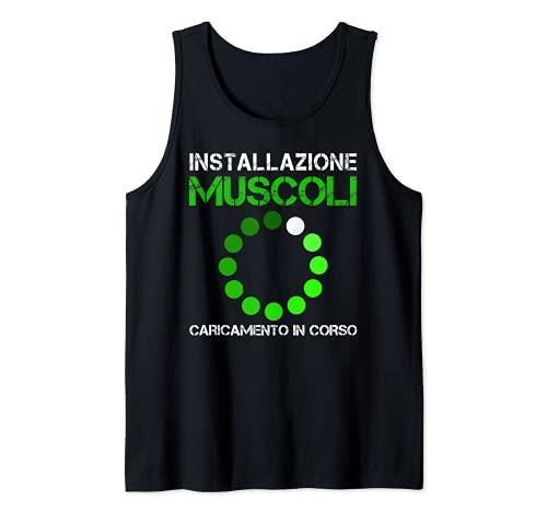 Installazione Muscolare Divertente Palestra & Fitness Uomini Canotta