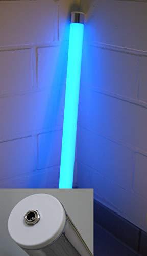 Lichtidee Led Leuchtstab matt softton blau 1m 12Volt mit Steckertrafo Anschluß an Steckdose Dekostab Stablampe