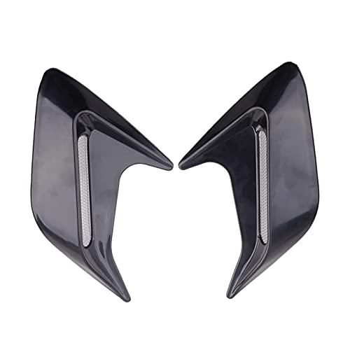 YYBLOVE YUYANGBIN 2 Unids Cap Hood Side Fender Air Strel Vent Flujo Ingesta Mesh Grille Stickers Cover Cap Black Fit para la mayoría de los Autos