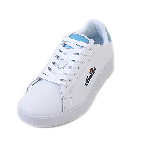 Ellesse Campo Emb, Zapatillas de Deporte Mujer, Multicolor (White/Alaskan Blue 000), 40.5 EU