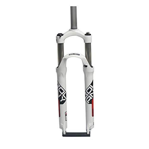 Forcella Ammortizzata,Forcella Meccanica 26/27,5/29 Pollici Lega di Alluminio Forcelle per Mountain Bike Forcella Dell'ammortizzatore A Pressione d'Aria (Color : C, Size : 26in)