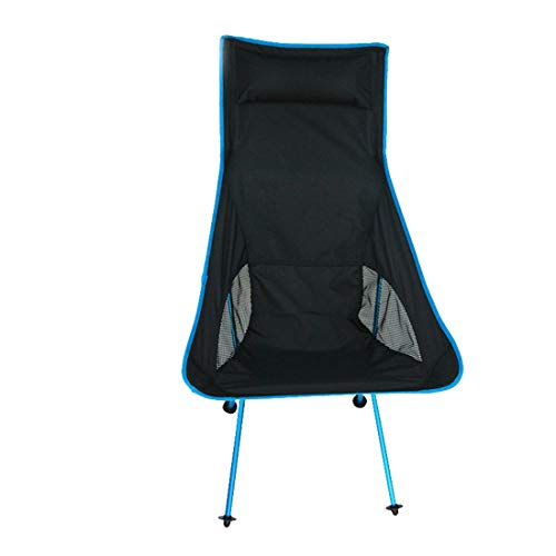 MOKA OUTDOOR Tragbarer Camping Klappstuhl, ultraleichter Rucksack mit Tragetasche, geeignet für Outdoor, Camping, Angeln, Strand, Multi-Color,Blue