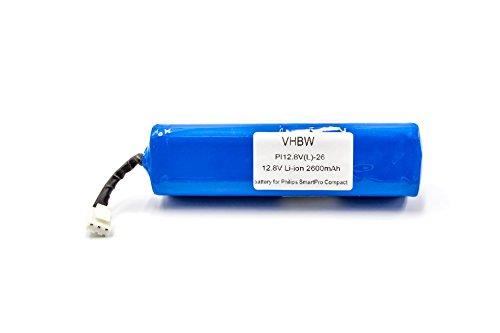vhbw Li-Ion Akku 2600mAh (12.8V) passend für Home Cleaner Heimroboter Philips Smartpro Compact FC8710