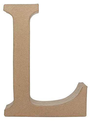 Glorex 6 2029 312 - Pappbuchstabe L Fantasy, ca. 22 x 30 cm groß, zum Bemalen und Bekleben, für Serviettentechnik und Décopatch, ideal als Dekoration