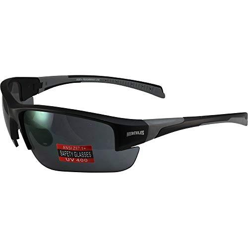 Global Vision Eyewear Hercules 7 Safety Glasses Black Frame (Smoke)
